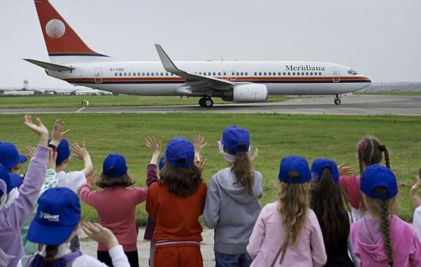 70 de copii fericiți la Aeroportul Internațional Chișinău